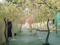 2019 Лидер продаж cherry blossom дерево дорога цитируется моделирование cherry с металлической арки рамки вечерние центральные украшения