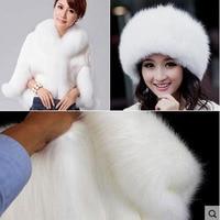 150x50cm1pc Good Faux Fur Fabric Fox White Faux Fur Fabric Sewing Material For Diy Hat Coat Collar Winter Warm Faux Fur Fabric