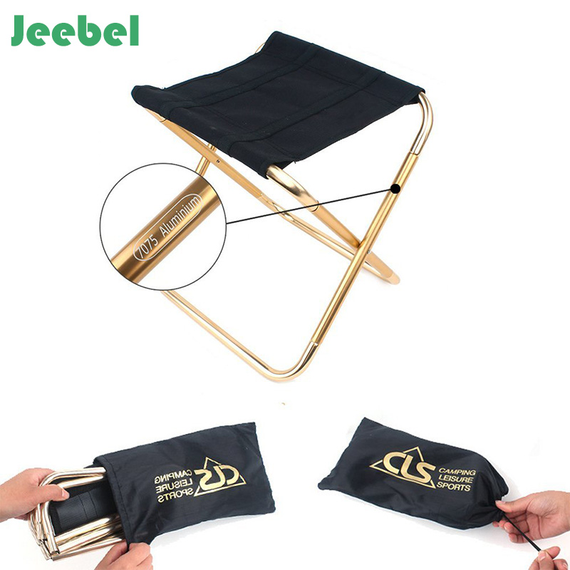Jeebel Outdoor Folding Chair 7075 Aluminum Alloy Fishing Camping Chair BBQ Stool Folding Stool Portable Travel Train Chair outdoor multifunctional folding stool ultra light fishing chair aluminum alloy fishing stool portable beech chair picnic chair