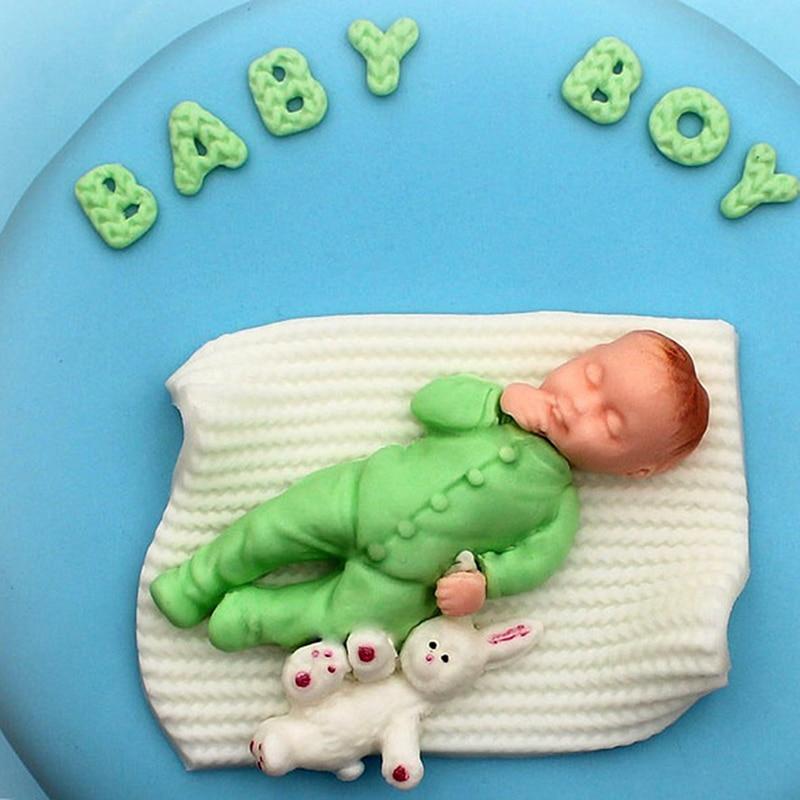 1 Stuck 3d Junge Madchen Silikon Kuchen Form Baby Party Fondant