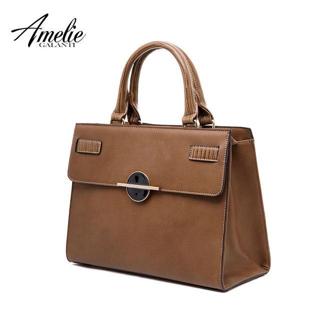 AMELIE GALANTI Дамская мода сумка Твердые жесткий Бостон кроссбоди женская сумка с внутренним карманом для мобильного телефона из искусственной кожи