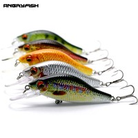 ANGRYFISH 5pcs 10 7g 108mm Fishing Lures 5 Colors Hard Artificial Bait Set High Carbon Steel
