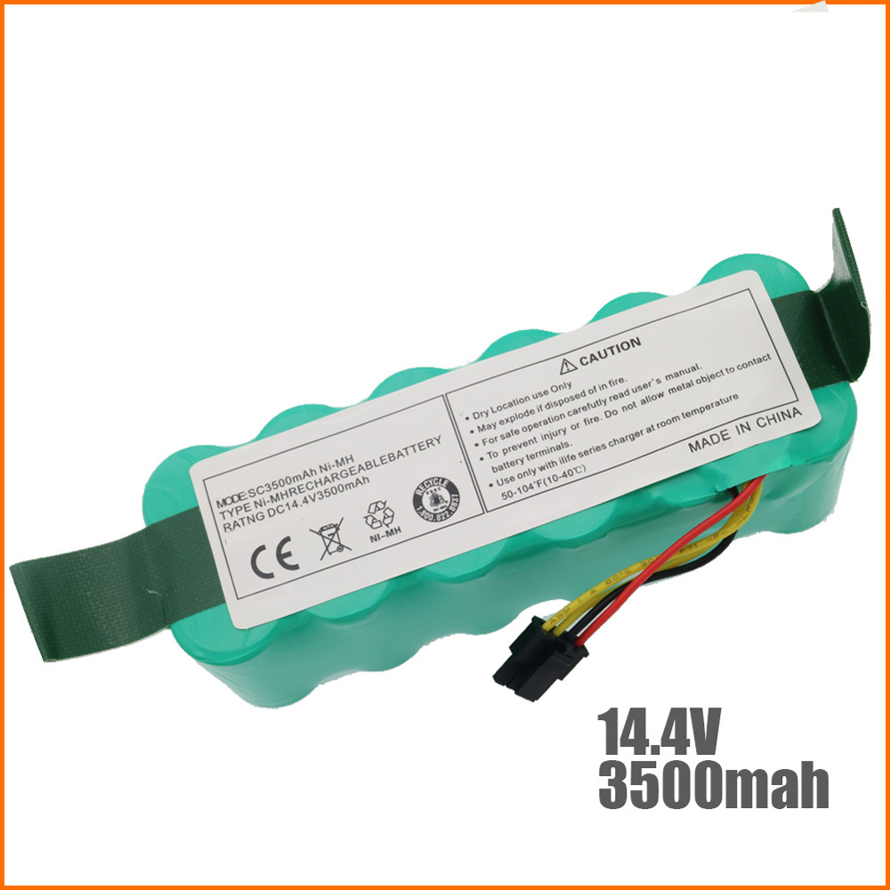 купить NI-MH 14.4V 3500mAh for panda X500 X600 High quality Battery for Ecovacs Mirror CR120 Vacuum cleaner Dibea X500 X580 battery 1
