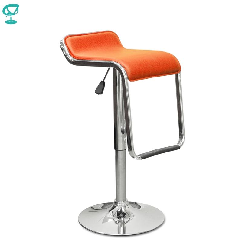 94431 Barneo N-41 Leather Kitchen Breakfast Bar Stool Swivel Bar Chair Orange Free Shipping In Russia