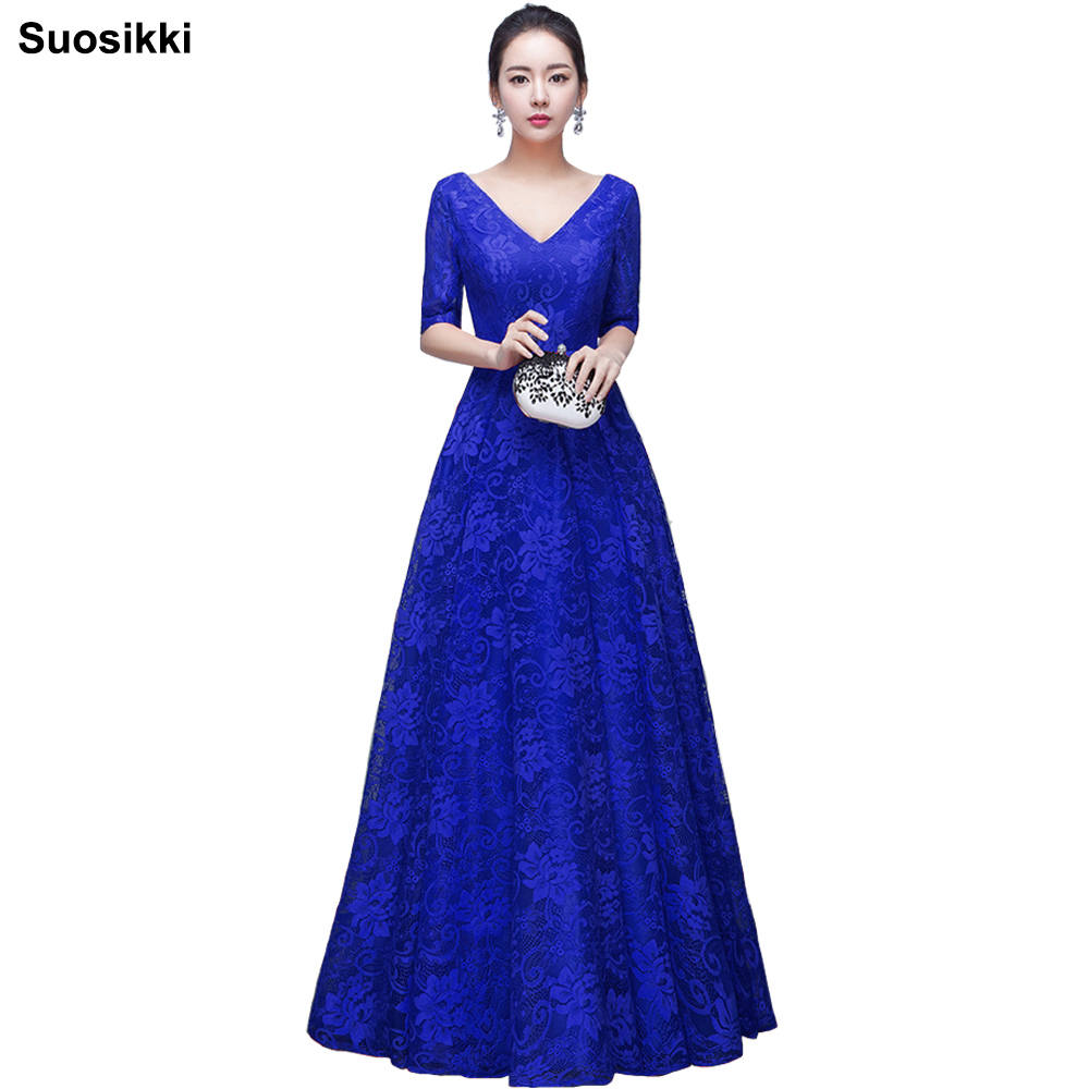 2017 Hot sale elegant evening dresses V-opening back prom formal party  dress vestidos de festa style dress free shipping 755506ab9229