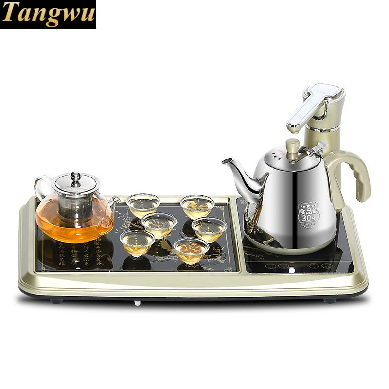 Electromagnetism tea furnace automatic water electric kettle induction sets mad Anti-dry Protection free shipping automatic water supply electric kettle tea set pumping furnace
