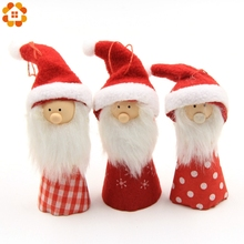 1pc Cute Snowman/Santa Claus/Angel Christmas Hanging Doll For Home Christmas Party Xmas Tree Ornaments