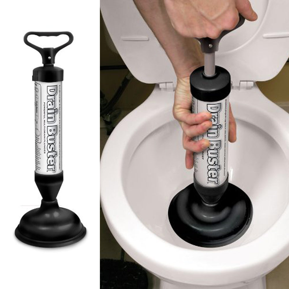 Manual Hand Power Pump Drain Buster Cleaner Toilet Plunger