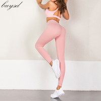 BUYSD Women Gym Clothing Leggings pants Sexy Push Up Leggings Women Workout Clothing High Waist Breathable Leggins Fitness women