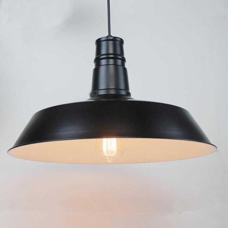 все цены на Retro Loft Style Dia 26cm Pendant Lights Black Vintage Industrial Lighting American Country Hanging Lamp Iron Pendant Lamps онлайн