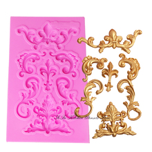 Flower silicone lace border fondant mold cake decorating tools chocolate gumpaste mould wedding cake decoraton T0984 cake border decoration lace mat sugracraft lace mold for fondant wedding cake decorating cake decorating tools bakeware lfm 27