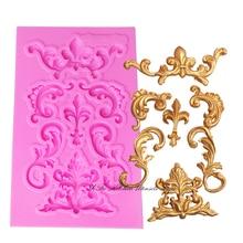 Flower silicone lace border fondant mold cake decorating tools chocolate gumpaste mould wedding cake decoraton T0984 цена и фото