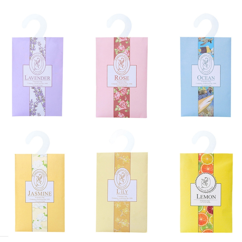 10 Pcs Natural Plant Perfume Sachet Bag Fresh Air Scented Fragrance Car Home Wardrobe