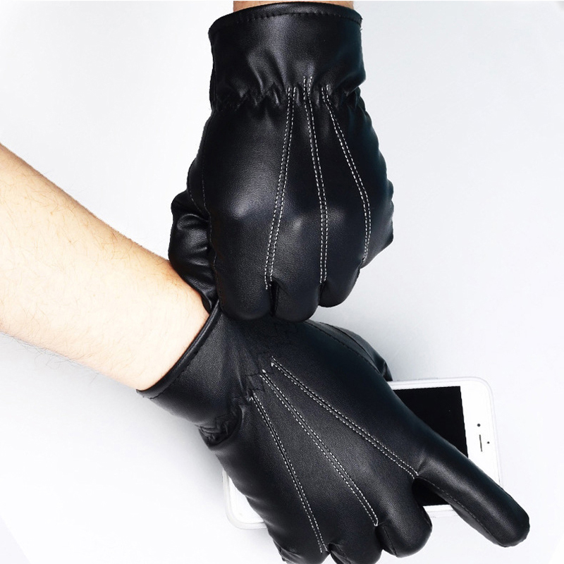 NAIVEROO Waterproof and Warm Touch Screen Gloves made of PU Leather and Conductive Fibers for Women Suitable for Spring and Winter 19