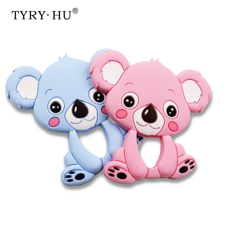 TYRY.HU 1pcs Koala Silicone Teether Infant Teething Pacifier Pendant Baby Chew Toys Food Grade Silicone Freeship цена 2017