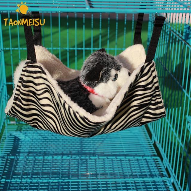 Zebra Pattern Cat Sofa Dog Hammock Sleeping Bag  for Chair Kitty Rat Small Pets Swing Newest 2017