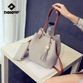 DOLOVE 2017 New Bucket Women Bag Female Bun Mother Bag Fall Fashion Shoulder Bag Handbag New Tassel Women Messenger Bags