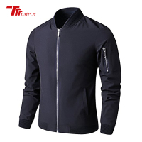 Mens Casual Jacket Zip Up Lightweight Bomber Flight Sportswear Jacket Windbreaker Softshell With Ribbing Edge Autumn Coats 9937