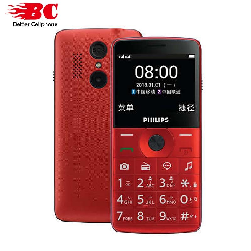 Original Philips E209J keyboard Phone MTK 2.0 inch 1600mAh battery FM Radio support up to 32GB memory card Dual SIM 2G GSM phone feature phone