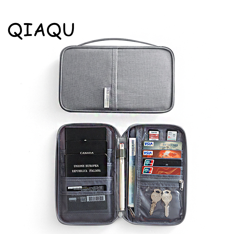 Travel Accessorie Passport Wallet Portable Passport Cover Pocket Block Document Organizer Bag Credit Card Holder Passport Wallet