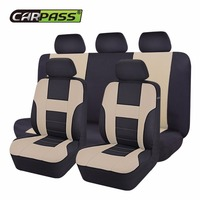 Car Pass New Car Seat Covers Universal Beige Blue Gray Automotive Seat Covers For Toyota Lada