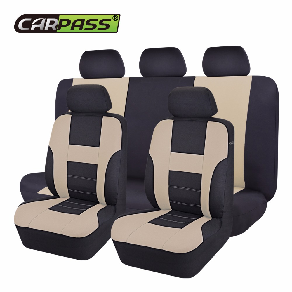 Car-pass nuevo asiento de coche cubre Universal Beige/azul/gris asiento de automóvil cubre para Toyota Lada Kalina