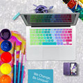 Gradient Rainbow Waterproof EU/UK Layout Keyboard Protector Cover Stickers Skin For MacBook Pro 13 15 17 Retina & Air 13