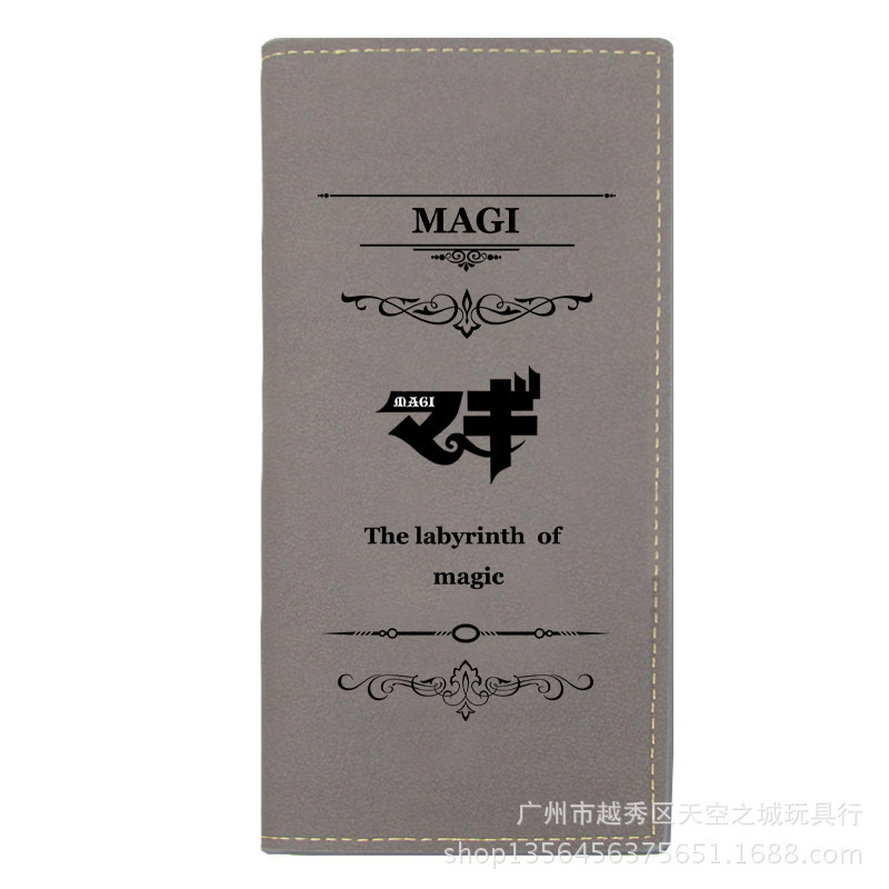 New Japanese Anime Magi Long Wallets Men Leather PU Bifold Purse Student Boys Girls Cartoon Billfold Gift