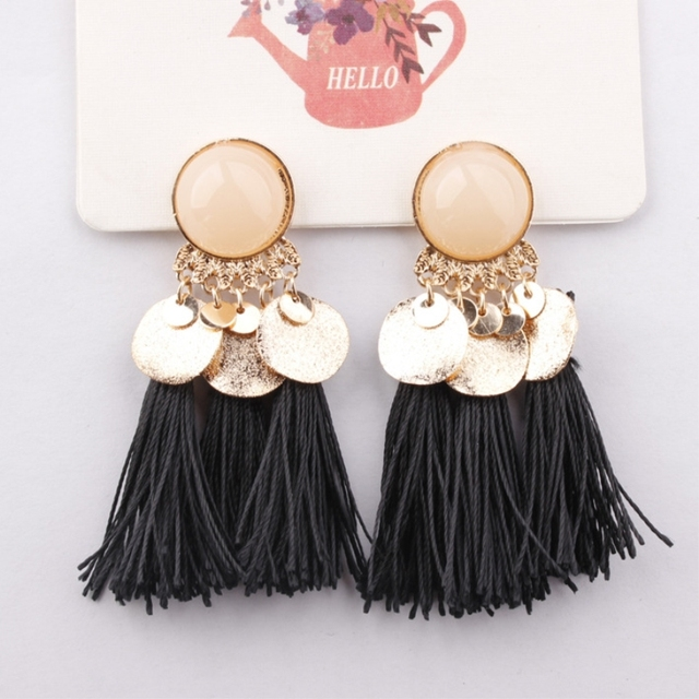 Short Statement Tassel Earrings For Women