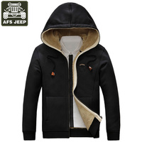 AFS JEEP Brand Winter Jacket Men Wool Liner Fleece Warm Man Jacket Jaqueta Masculina Hooded Casaco