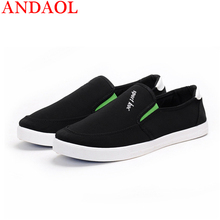 ANDAOL Mens Canvas Casual Shoes Top Quality Soft Moccasins Non-Slip Driving Loafers New Luxury Slip-On Business Office shoes