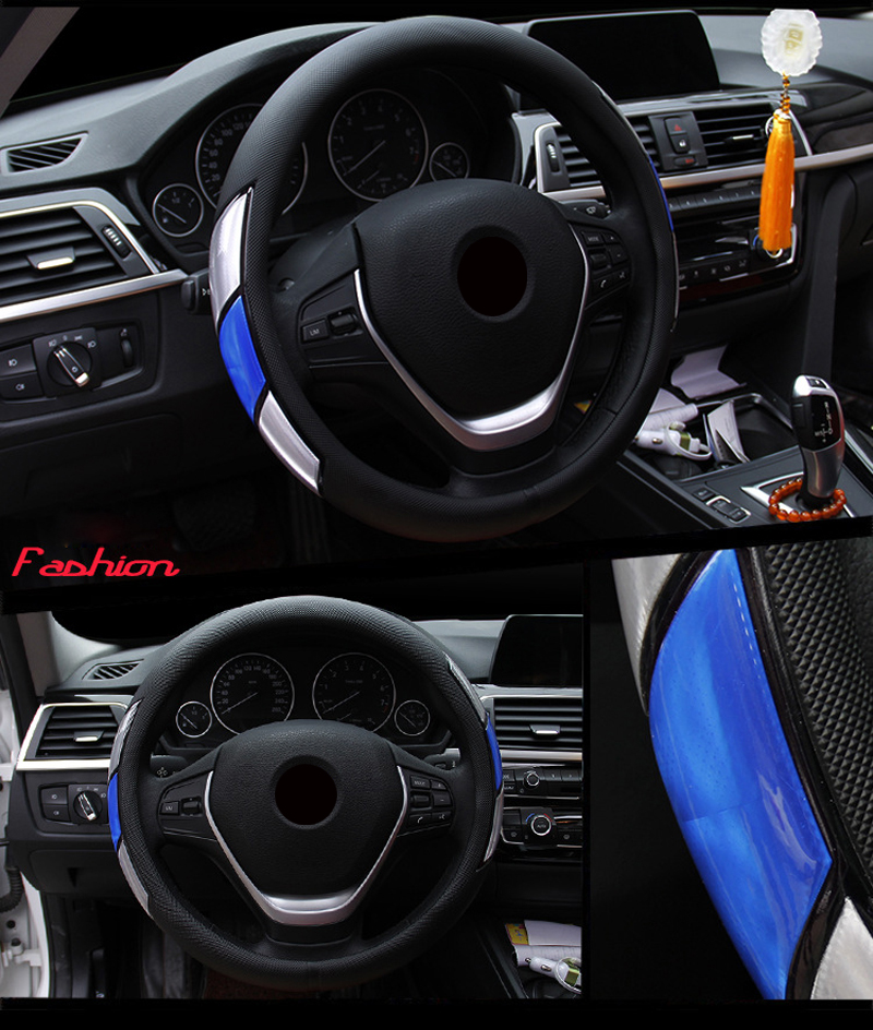 Reflective Movement Diamond Steering Wheel Cover 3 Colors Anti-slip For 38CM Car Styling Steering-wheel Car-covers Free Shipping 7