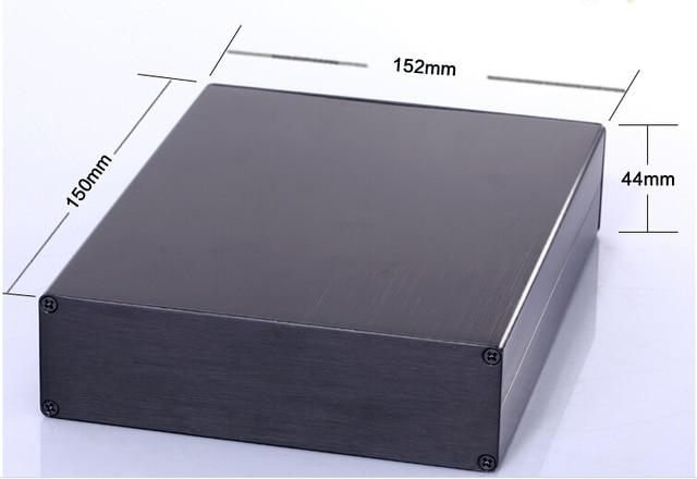 """Проект алюминиевый корпус power shell box 152 (5.98 """") X44 (1.73"""") X150 (5.9 """") мм DIY черный НОВЫЙ оптовая"""