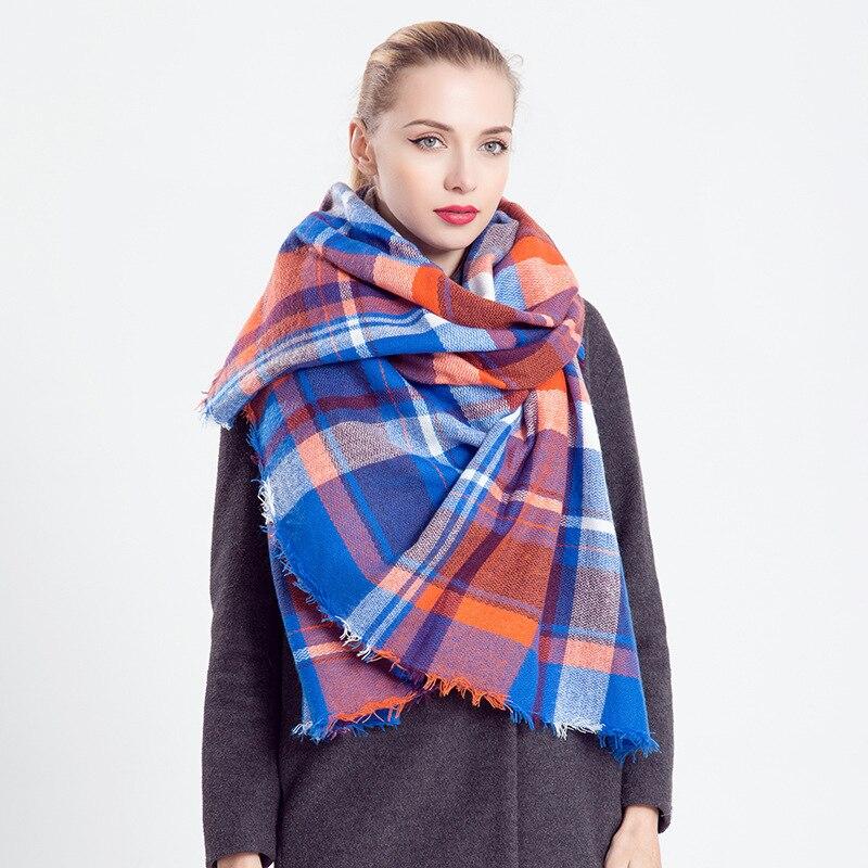 e1ede64ab Luxury scarf women brand burbry ravenclaw silk chiffon scarves Plaid shawl  Winter Scarf all match blue orange scarf 140*140cm-in Women's Scarves from  ...