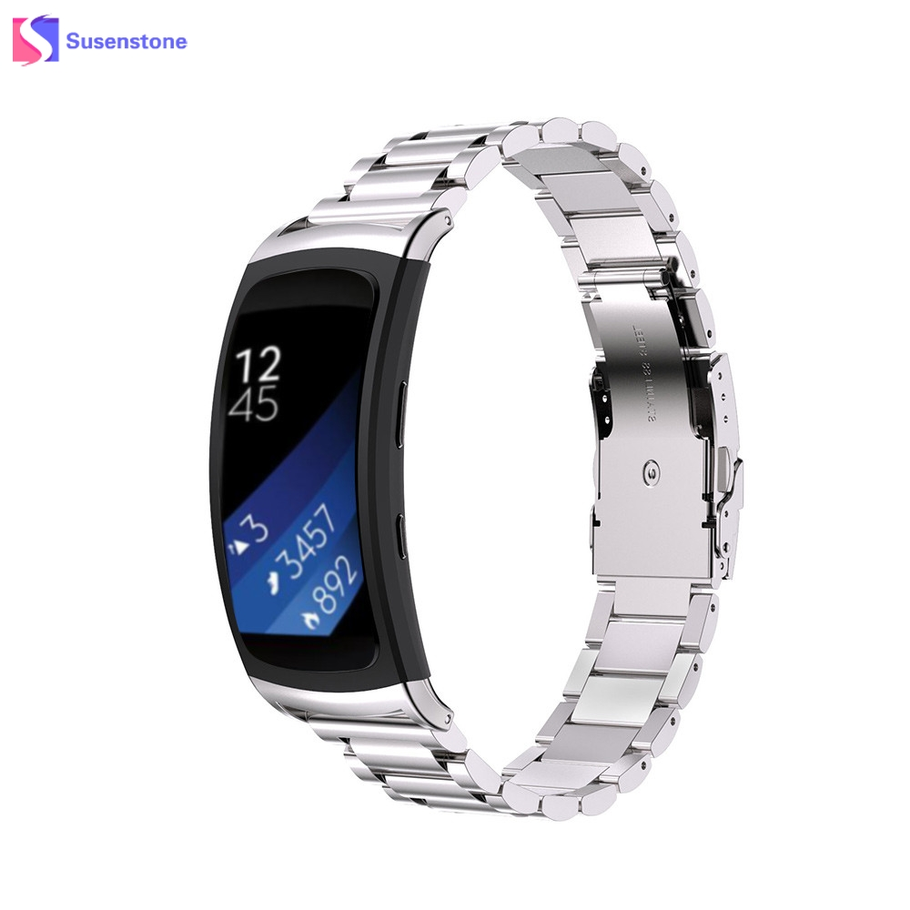 Hot Sale Genuine Stainless Steel Watchband Bracelet Watch Band Strap For Samsung Gear Fit 2 SM-R360 Replacement Watchbands high quality stainless steel bracelet watchband strap for fitbit alta watch band wristband replacement band strap