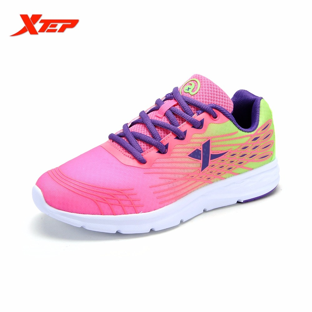XTEP 2017 Breathable Running Women Sports Track Shoes Athletic Air Mesh Sneakers Women's Trainers Trainning Le Scarpe Da Corsa