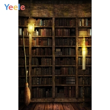 Yeele Vinyl Bookshelf Book Candle Broom Children Birthday Party Photograph Backdrop Wedding Photocall Background Photo Studio