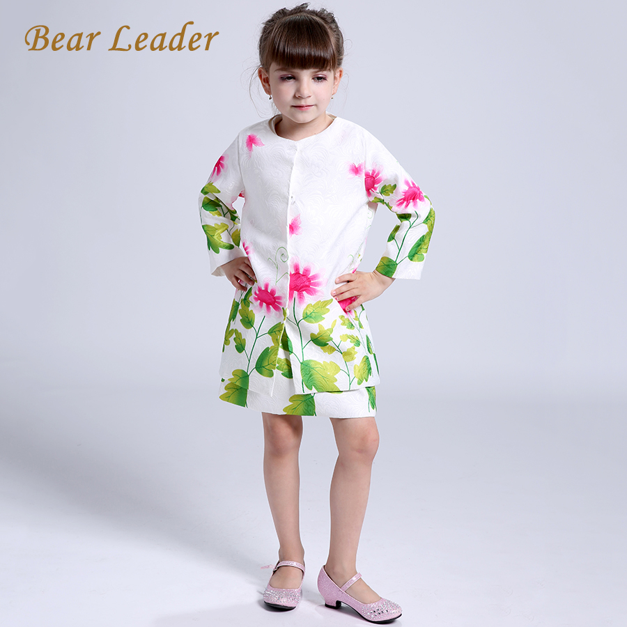 Bear Leader Girls Clothing Sets 2016 Brand Autumn&Witnter Baby Girls Clothes Sunflower Ptint Dress+Jackets for Kids Clothing set hd 720p ip camera onvif black indoor dome webcam cctv infrared night vision security network smart home 1mp video surveillance