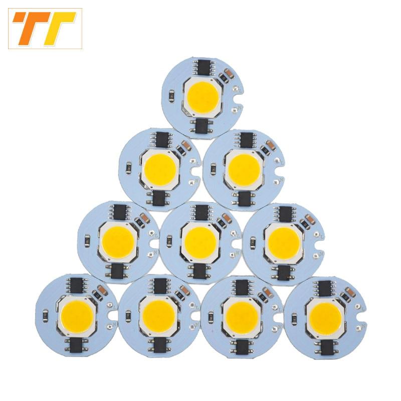 10 pcs lot LED COB Chip 9W 7W 5W 3W Integrated beads AC220V 230V Matrix LED Spotlight DIY Projector Flood Light Outdoor to DIY