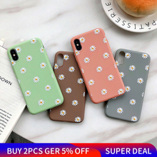 Fashion Flowers Phone Case For iPhone X XR XS Max 7 8 6 6s Plus 5 5s SE Chrysanthemum Floral Soft TPU Silicone Back Cover Cases цена и фото