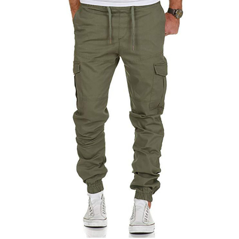2019 New Men Pants Hip Hop Joggers Fashion Basic Solid Elastic Waist Trousers Casual Pockets High Quality Mens Sweatpants