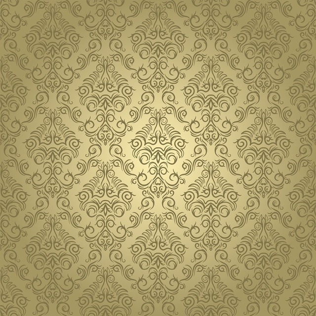 Send Rolled Yellow Damask Backdrop Chic Vintage Ivory