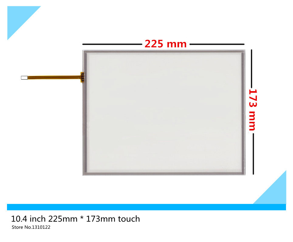 10.4 inch 4 wire 225mm*173mm Resistive Touch Screen Digitizer for AMT 9509 A 9509;BIndustrial equipment ;armamentarium amt 146 115 4 wire resistive touch screen ito 6 4 touch 4 line board touch glass amt9525 wide temperature touch screen