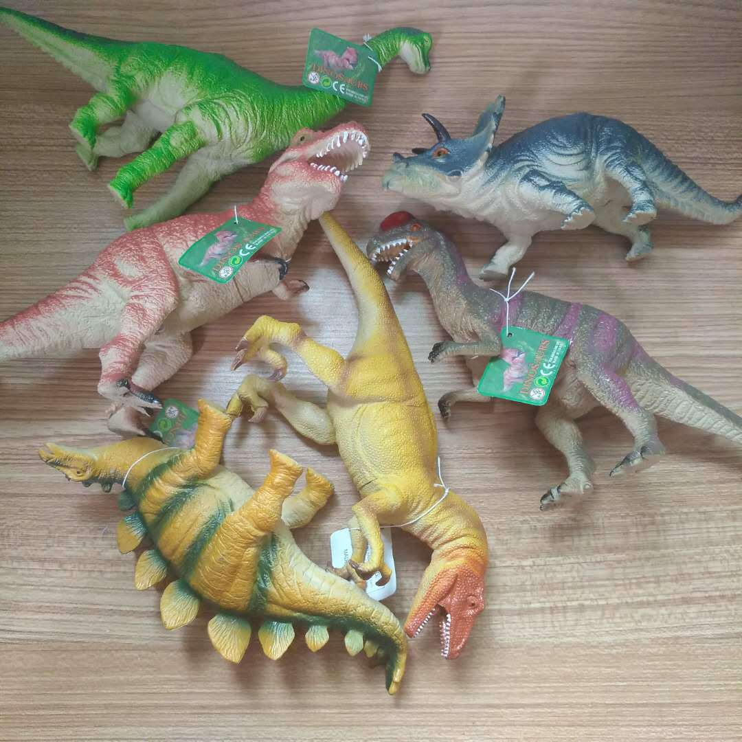 Jurassic Dinosaur Model Toy 24cm Tyrannosaurus Rex Makes a Sound, Pinches, and Calls for Placing Decorations on Children's Gifts image