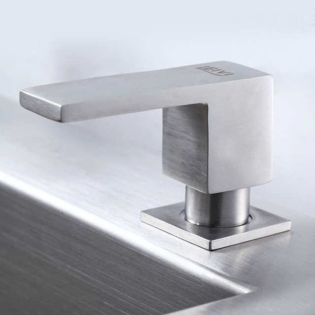 Square Stainless Steel Soap Dispenser Fit for Kitchen Sink LS109 ...