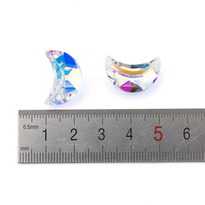 20mm 8pcs pack Austria moon pendant 6722 charms crystal glass beads rhinestone gems for Earring making DIY jewelry accessories in Beads from Jewelry Accessories