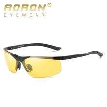 AORON Aluminum Night Vision Polarized Sunglasses Men Brand Goggles UV400