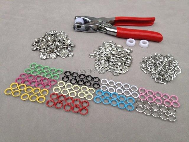 100 Sets 10 Kleuren 95mm Koper Prong Drukknopen Fasteners