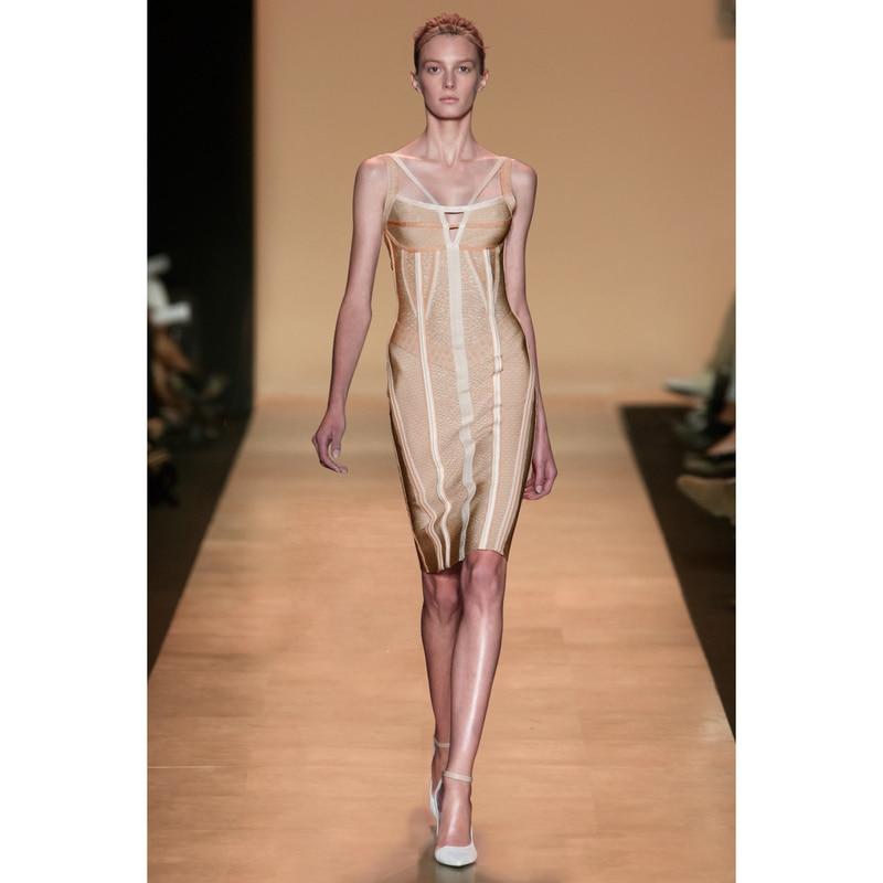 New Celebrity Bandage Halter Dress Apparel For Women Semi Formal