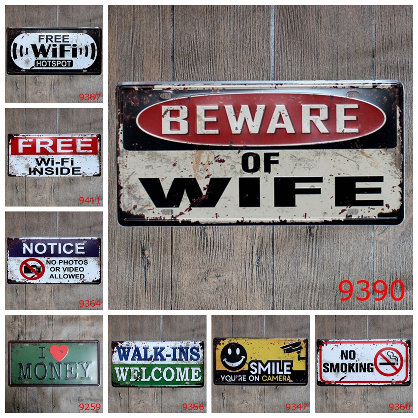 Бар декоративные Предупреждение металлических пластин Винтаж металла жестяная вывеска бар Wall Art ремесло живопись металла Art для домашнего ...
